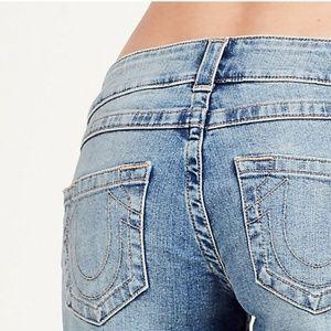 True Religion Blue Cut off Denim Jean Shorts